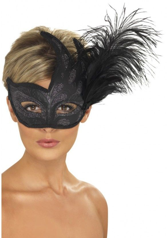 Zwarte Veren Masker