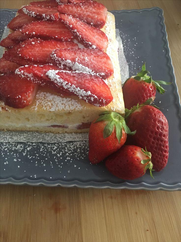 Mon fraisier au mascarpone # recette sur mon blog blissandfoodies