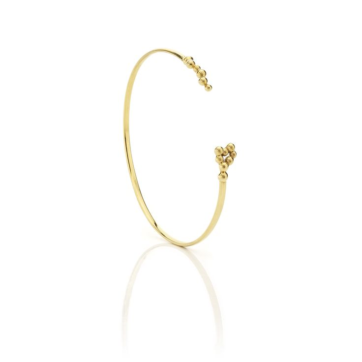 Yellow gold bracelet // Dots Collection #huffyjewels www.huffyjewels.com
