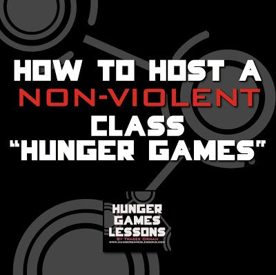 """How to Host a non-violent class """"Hunger Games"""" (and other """"competitions"""" you can have in class while staying true to the theme)."""