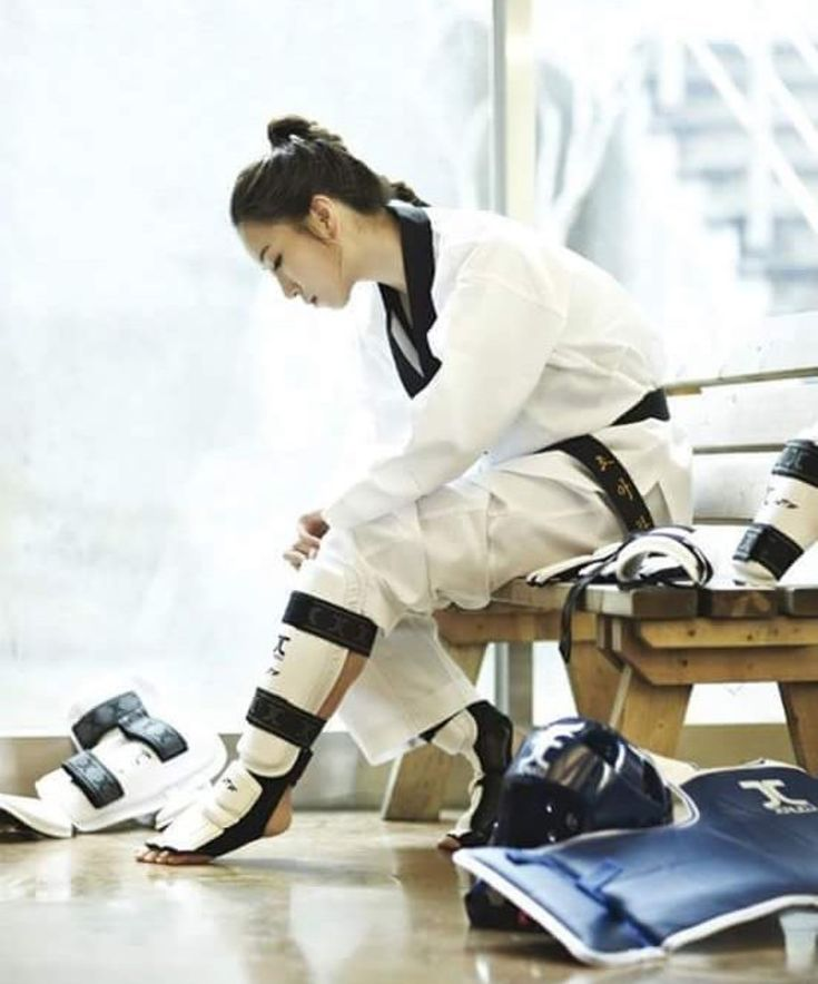 getting all of the Taekwondo gear on is a pain
