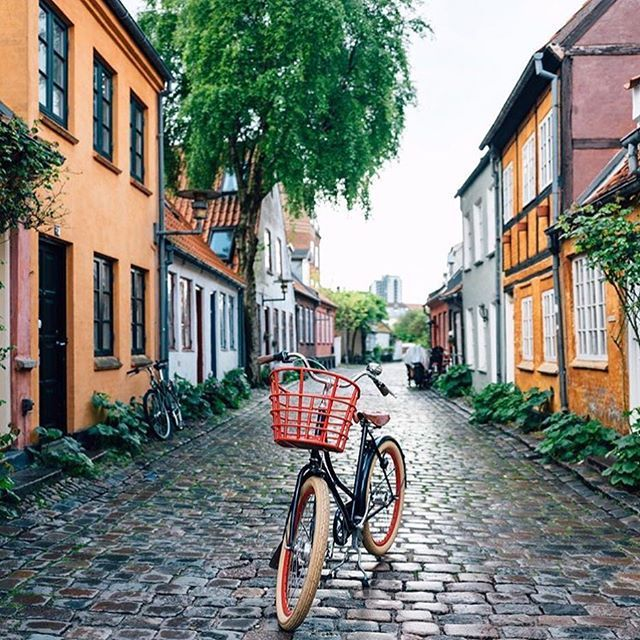 Biking around Aarhus, DENMARK This year, @lonelyplanet said Aarhus is one of the top 10 places to visit in Europe, ranking as #2!