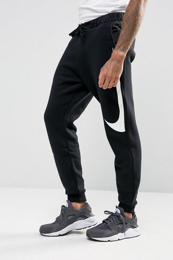 43994d0f8a5fc6 Nike Hybrid Swoosh Joggers In Black 861720-011 - Black - Asaan United  Kingdom in 2019 | fashion | Black nike sweatpants, Nike clothes mens, Mens  joggers