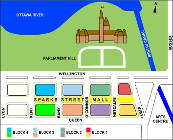 Sparks Street Mall - layout of the mall