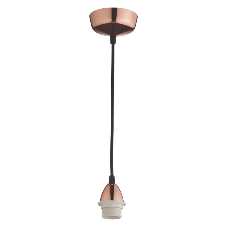 PENDEL E27 copper ceiling light fitting 120cm