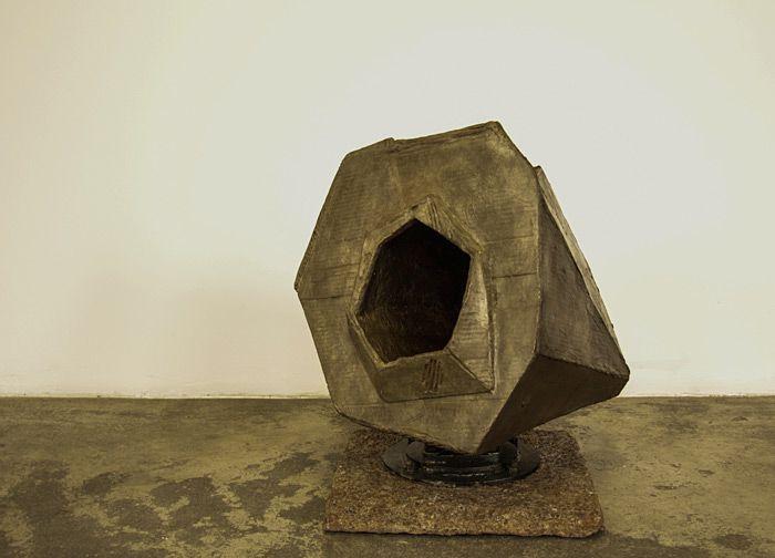 Louis Olivier | A Large Funnel Shaped Device | 2014 | Bronze (61.3 x 53 x 54 cm) | www.art.co.za/louisolivier.html