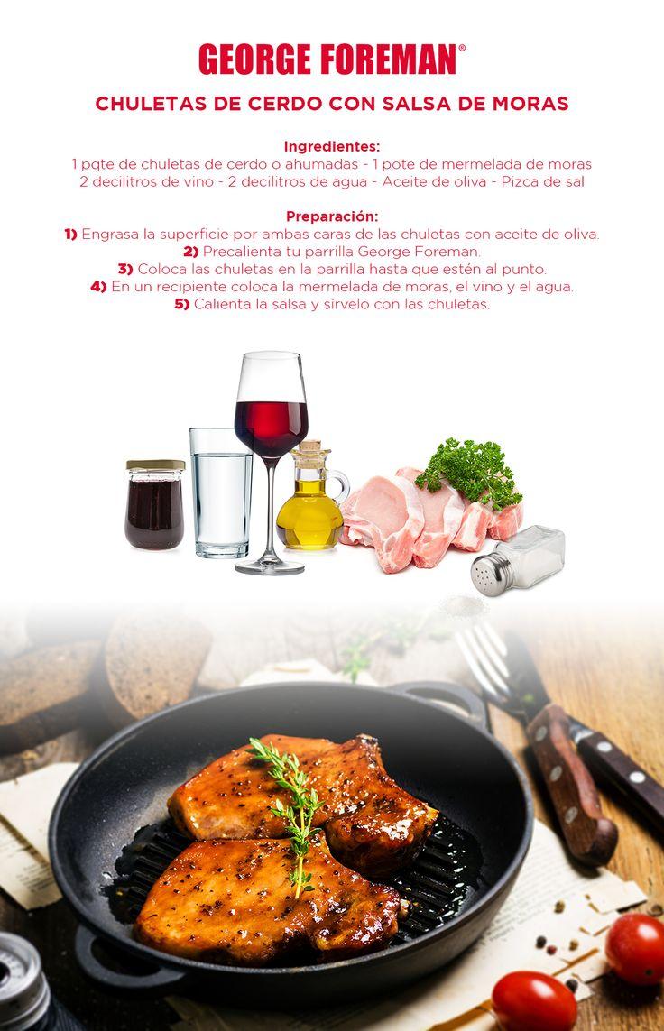 #food #healthyfood #parrilla #GeorgeForeman #deli #foodporn #menosgrasa #saludable #receta #chuletas #moras #vino #frutas #electrodomestico