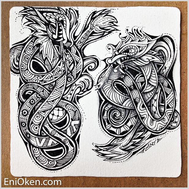 How to Create a Zentangle or Zendoodle   FeltMagnet