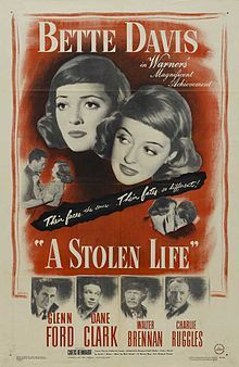 """A Stolen Life is a 1946 drama film starring Bette Davis, who also produced, and directed by Curtis Bernhardt. The supporting cast includes Glenn Ford, Dane Clark, Walter Brennan, Charles Ruggles, and Bruce Bennett (formerly """"Herman Brix""""). The movie is a remake of a 1939 British film Stolen Life starring Elisabeth Bergner and Michael Redgrave."""