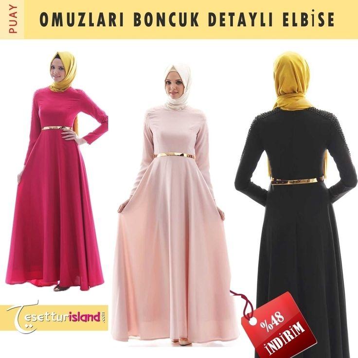 Özel gün ve gecelerinizde size eşlik edebilecek en şık elbiseler burada! #tesettur #hijabfashion #tesetturisland #dress  İncelemek için hemen tıklayın: www.tesettürisland.com Ürün Kodu: 1575S