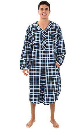 4c821a221c Alexander Del Rossa Mens Flannel Nightshirt