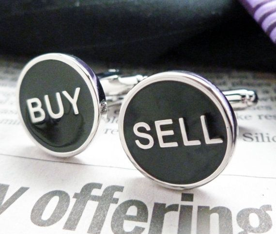 Buy Sell Cufflinks Real Estate Financial Stock by PerfectCufflinks