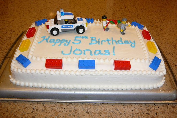 lego cakes for boys birthday | He's into the Lego police and robbers these days so that's what he ...