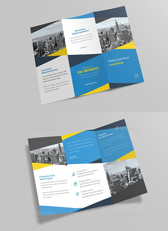 Corporate Tri Fold Brochure Template Psd Ai Illustrator Download