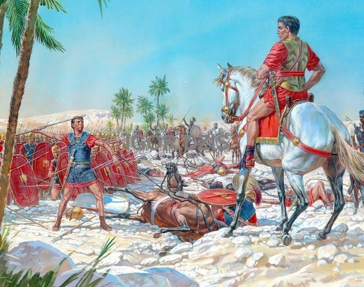 Battle of Ruspina 46 BC..roman civil war | Projects to Try ...