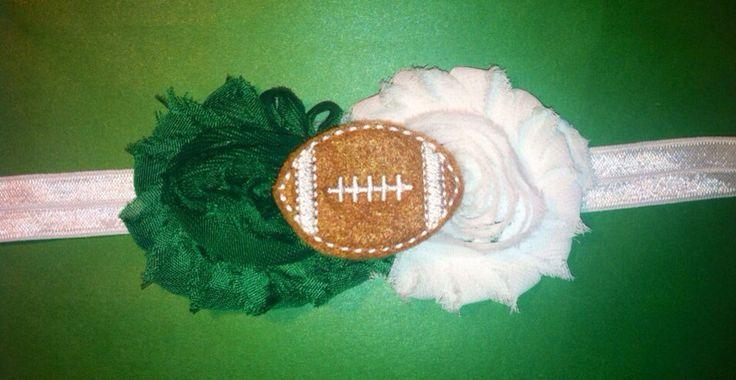 Baby headbands, fall football season, Michigan state football, college football, toddler baby newborn headbands, fitted headbands , state by TinksTreasuresChest on Etsy https://www.etsy.com/listing/200904773/baby-headbands-fall-football-season