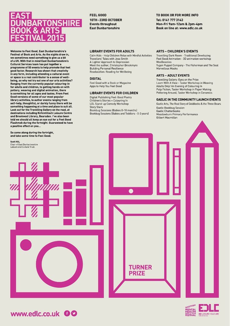 EAST DUNBARTONSHIRE BOOK and ARTS FESTIVAL 2015 #poster