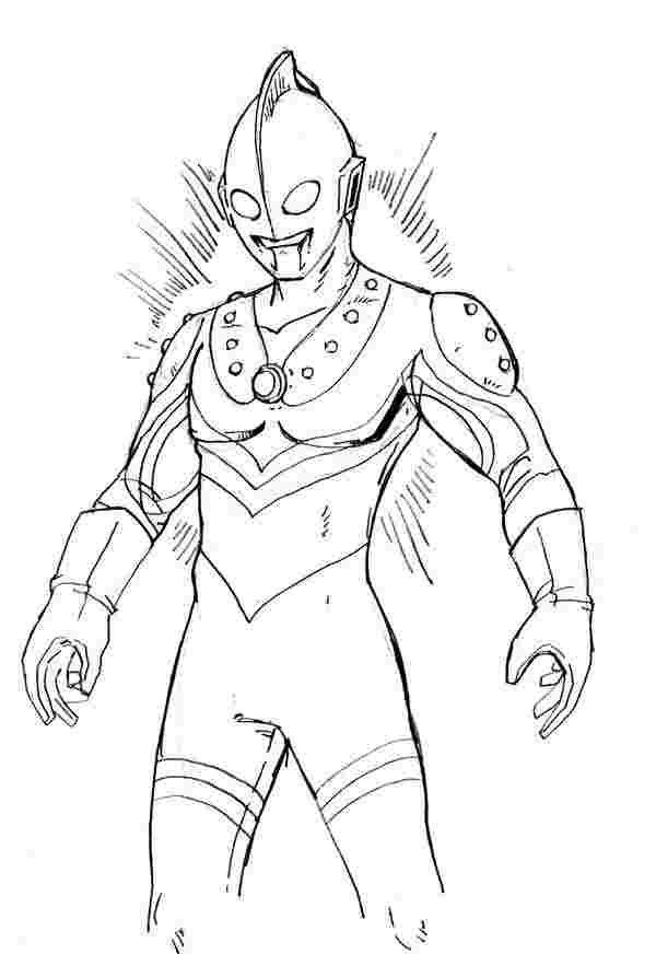 Coloring Page Ultraman Kartun Gambar Warna