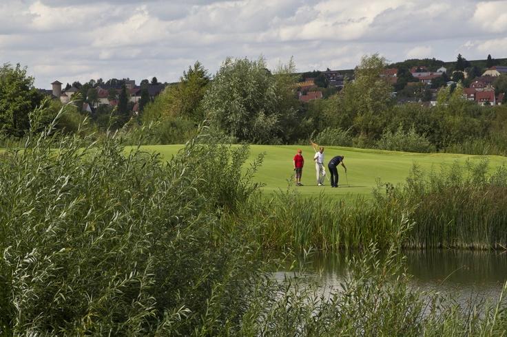 Golf auf dem Platz von Schloss Mainsondheim