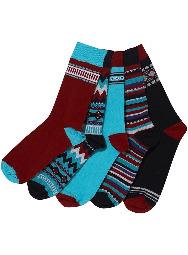 Aztec Pattern Socks - extreme