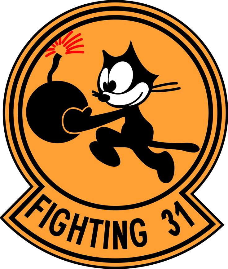 VF 31 Tomcatters Squadron Insignia Frontline Reserve U