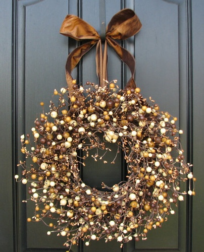 Fall Berry Wreath Roasted Marshmallow Smores Fall by twoinspireyou contemporary holiday decorations