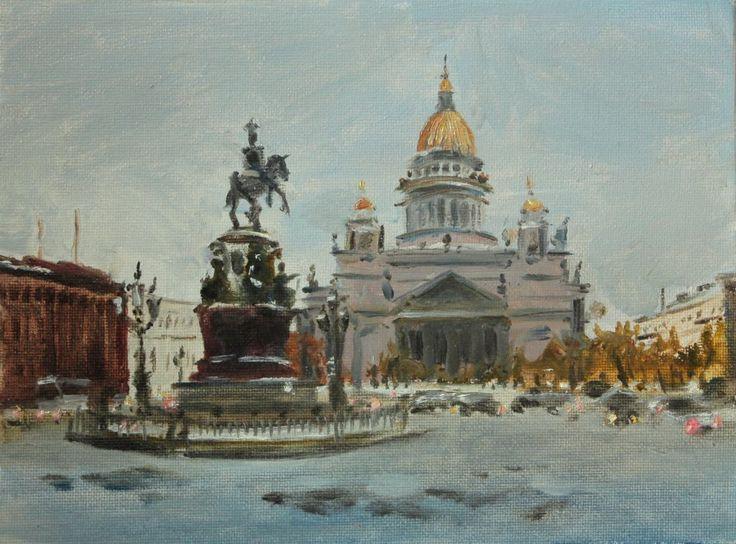 #landscape#city#cityscape#grey#impresion#impresionism#Petersburg