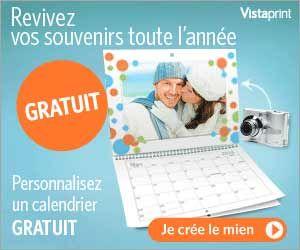 VistaPrint : calendrier photo mural à personnaliser gratuit (hors frais de port) | Maxi Bons Plans