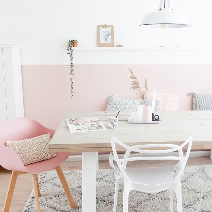 Pink and wood