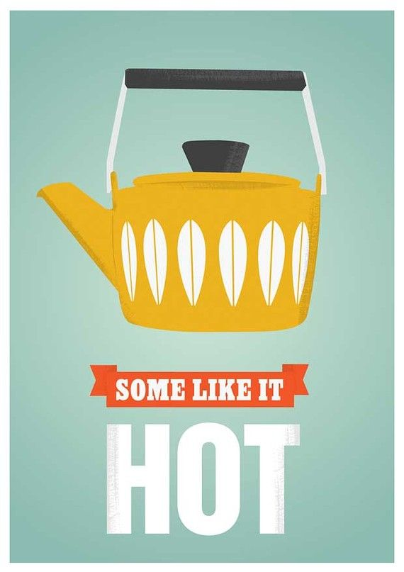 Coffee Kitchen print Cathrineholm poster tea poster retro by handz