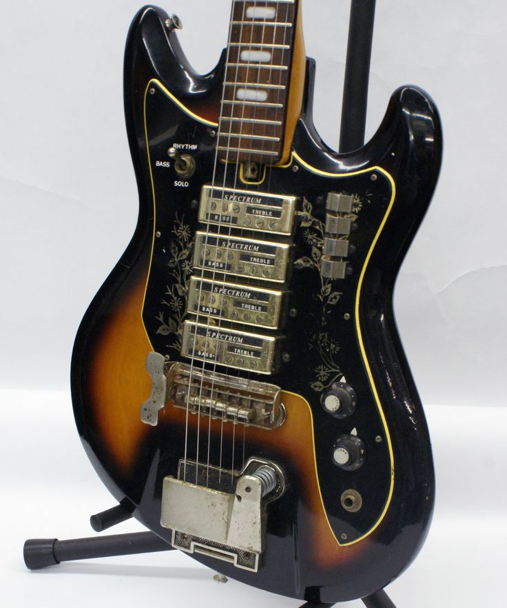 Vintage Teisco Et 440 Electric Guitar with Gold Hardware from The Sixties