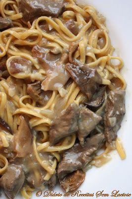 O Diário de Receitas Sem Lactose: Talharim ao Molho de Filé Mignon e Funghi
