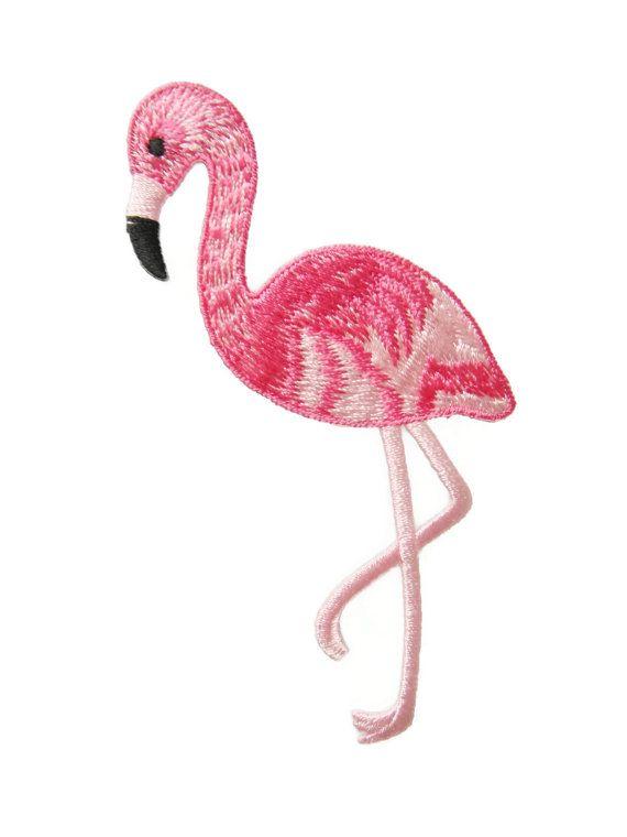 Flamingo Animal apliques bordado hierro en remiendo del pájaro