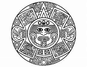 Image Result For Aztec Sun Stone Coloring Pages Aztec Warrior
