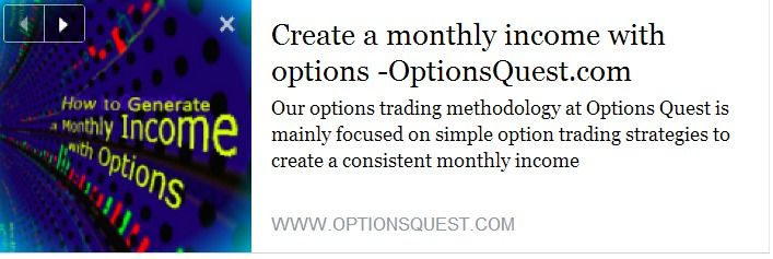 Trade options for monthly income
