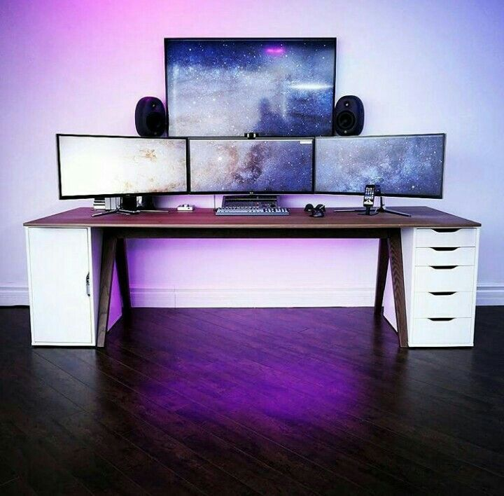 Hi Folks What Do You Do In This Weekend We Have An Idea To Build Your Own Computer Desk On Your Home You Can Ei Diy Computer Desk Gaming Desk Computer