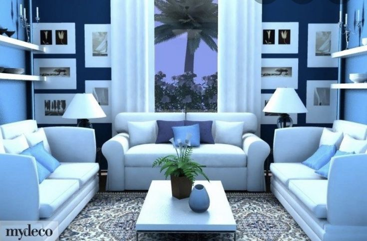 Pin By Judith Williams On A Blue White Decor Blue Living Room Blue Interior Design Blue Rooms