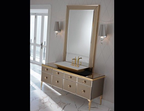 Milldue Majestic 12 Bronze Lacquered Glass High End Italian Bathroom Vanities