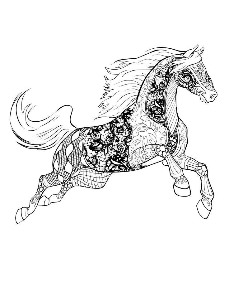 195 Best Horse Lovers Coloring Books Images On Pinterest