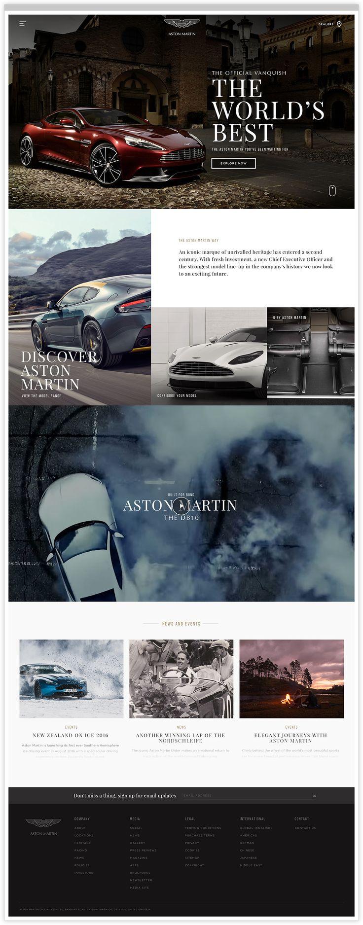 Aston Martin Homepage Web Design