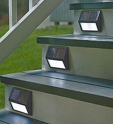 Solar Step Lights...need to find some of these....Found some at Bed Bath and Beyond 4.99 each !!