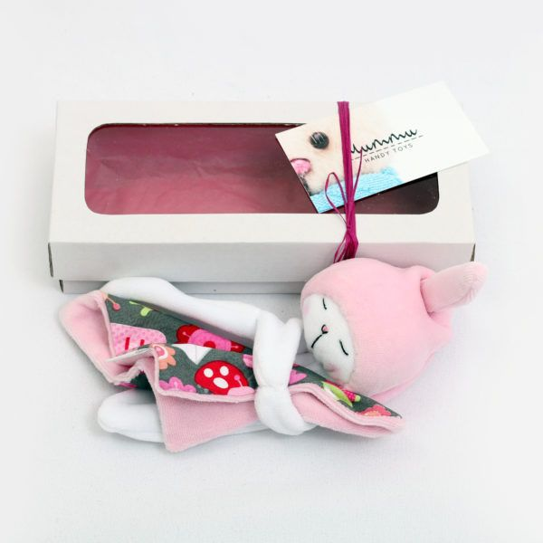 Sleepy Bunny (blankie). This classic baby plushy is an ideal first present, as it is perfect for baby with its ultimate softness and irresistible for mummy with its very being. Not to mention, that those with a keen eye can see at once that this bunny is more than a simple plushy...