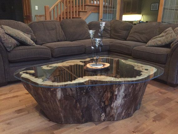 Hollow Log Coffee Table by BigAssSlabs on Etsy