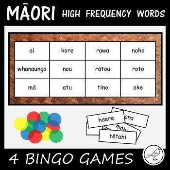 This resource contains 4 different BINGO games that are made with the first 200 high frequency Māori words. Each game contains 50 words. The Games: ♦ Game 1 - words 1-50 ♦ Game 2 - words 51-100 ♦ Game 3 - words 101-150 ♦