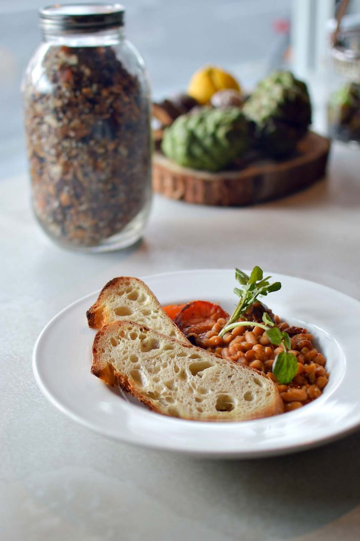 Baked beans at Flour Drum, Newtown - from heneedsfood blog