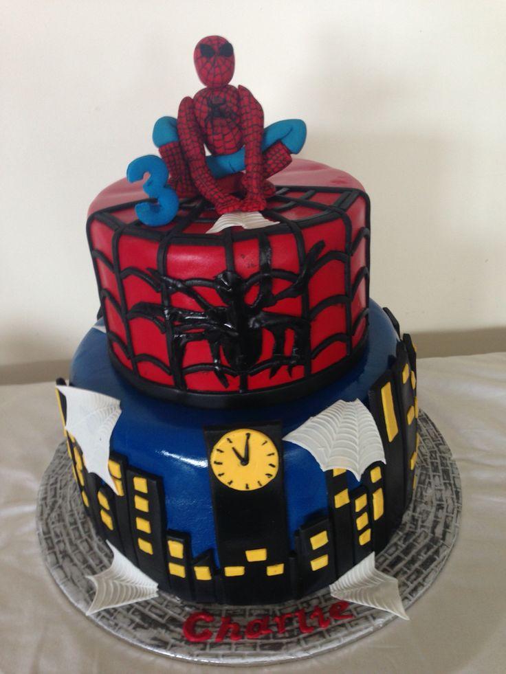 Spider-Man Kids Birthday Cake