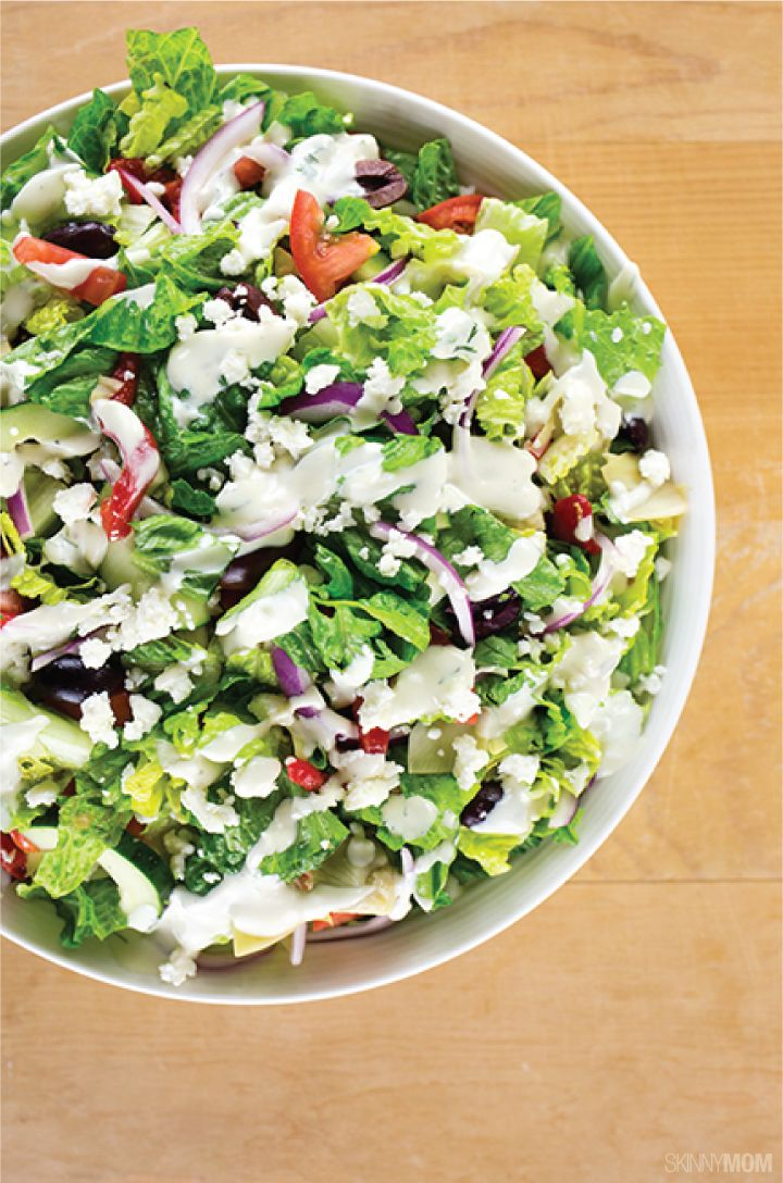 This skinny Greek Salad will be one of your new favorites!