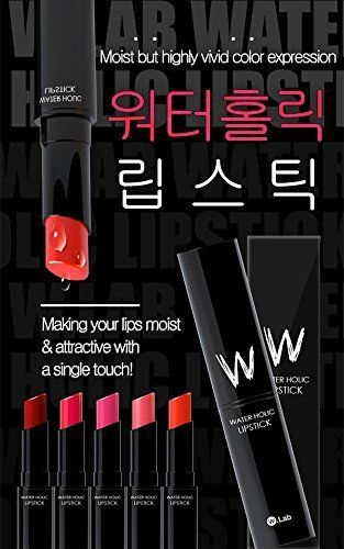 W.Lab Water Holic Lipstick Vivid Color Shiny & Moisture +Free gift Korean Beauty #WLab