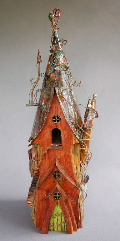 :Your birds will love this house.  Great as a piece of yard art to balance one or more, of your gardens off.