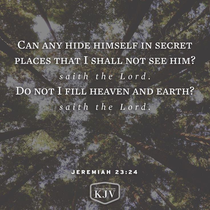 KJV Verse of the Day: Jeremiah 23:24